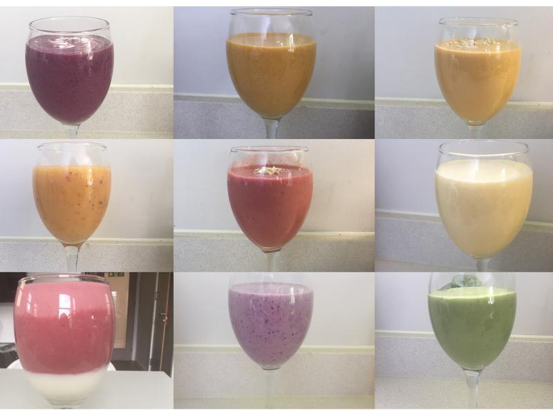 蔬果彩色冰沙fruit smoothie