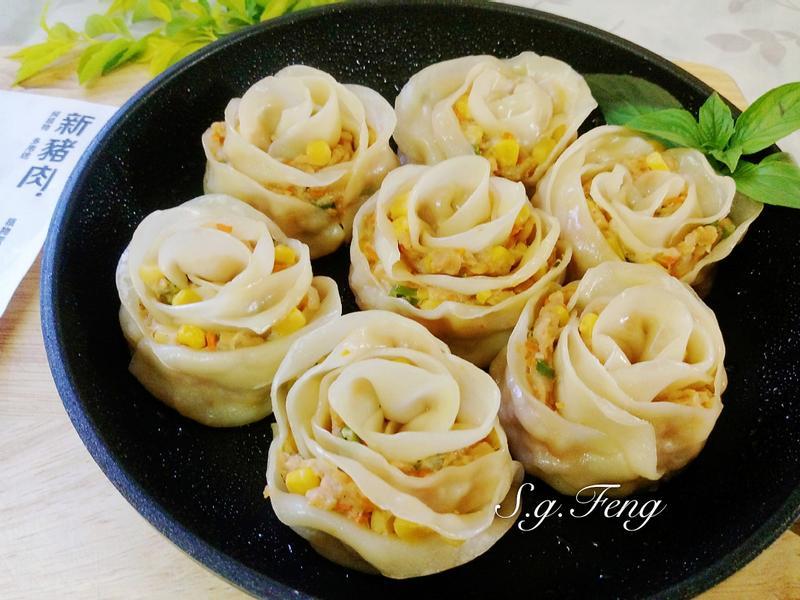 玫瑰煎餃(新豬肉玉米口味)