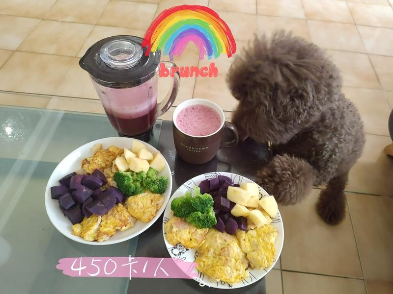 【健康吃飽飽】紫地瓜雞肉豆腐煎餅早午餐