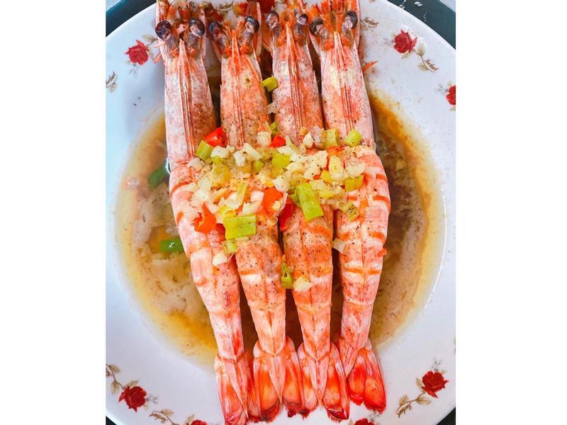 蔥蒜蝦(電鍋版)