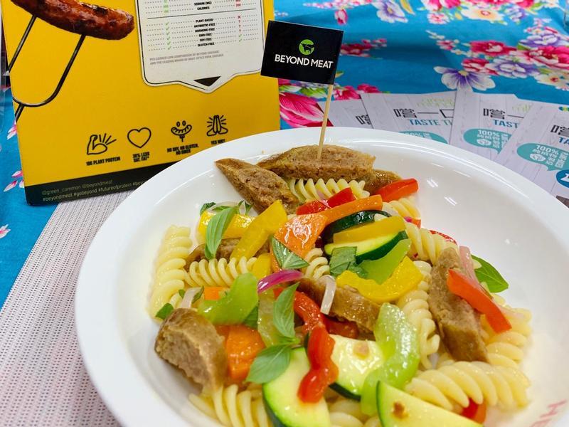 艷夏蔬菜未來香腸麵沙拉(五辛素/純素)