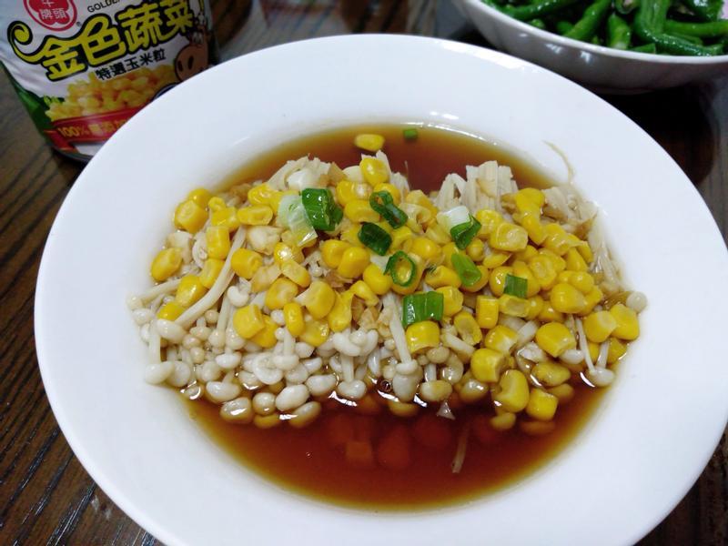 醬蒸金針菇玉米粒