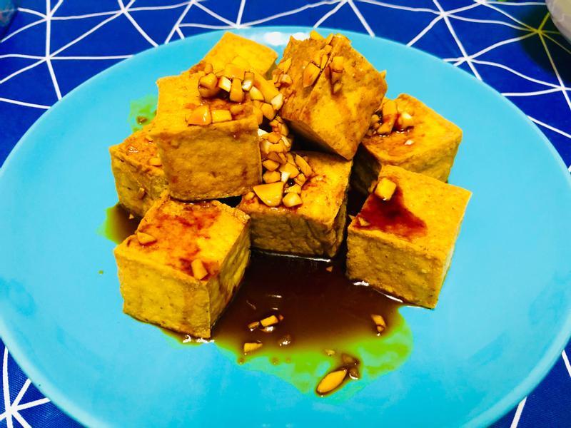 超簡單又好吃的氣炸豆腐