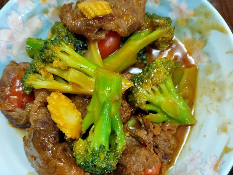 茄汁青花炒牛肉番茄