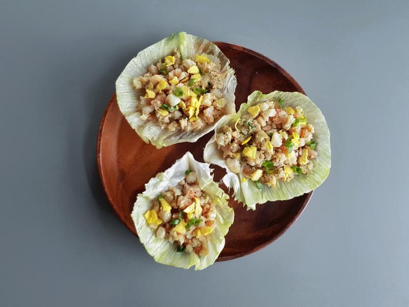 生菜干貝蝦鬆 (康寶自然鮮-嫩雞)