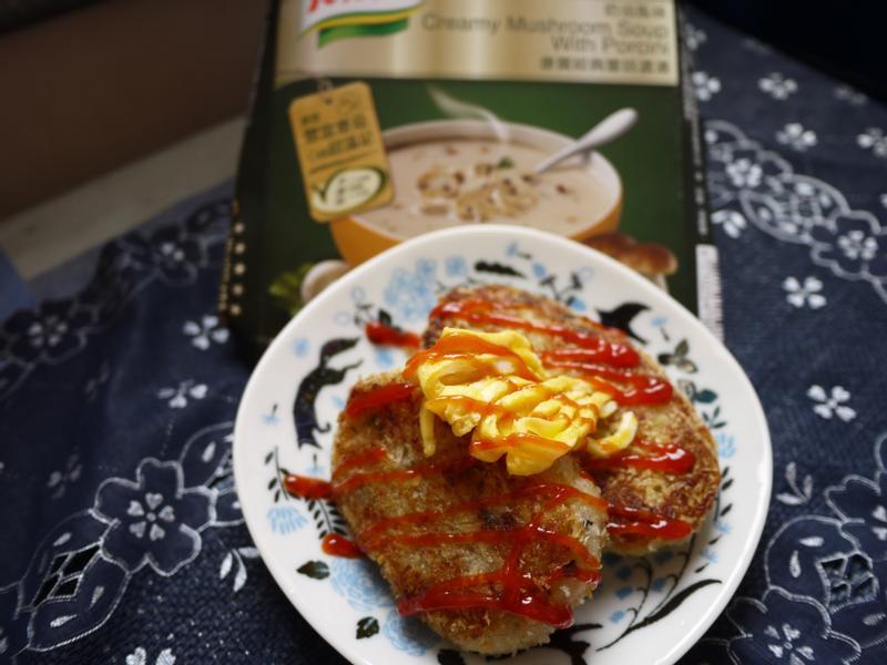 蕈菇可樂餅