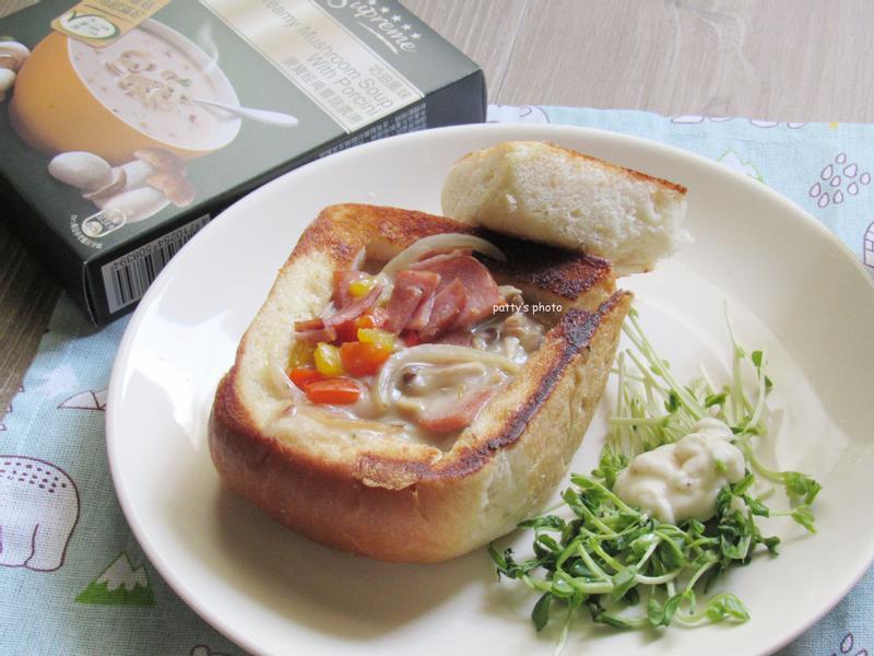 蕈菇火腿吐司盒