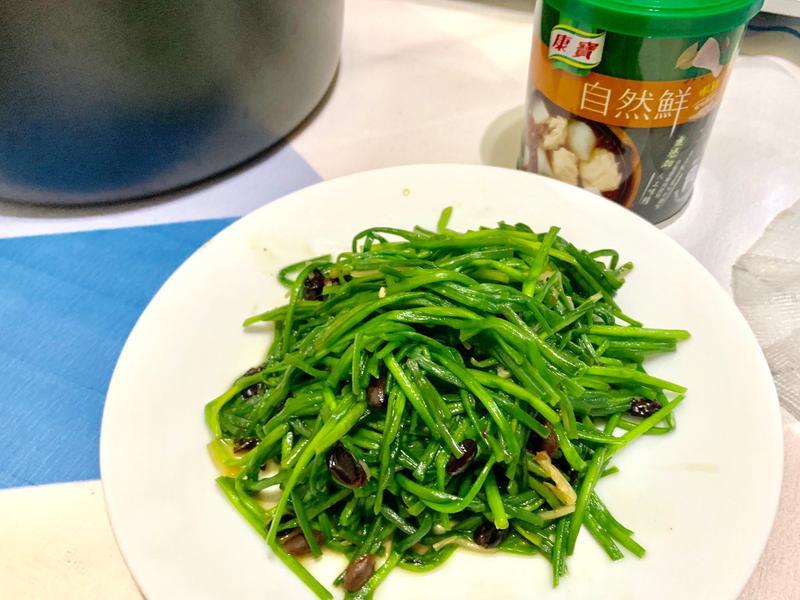 豆豉炒水蓮