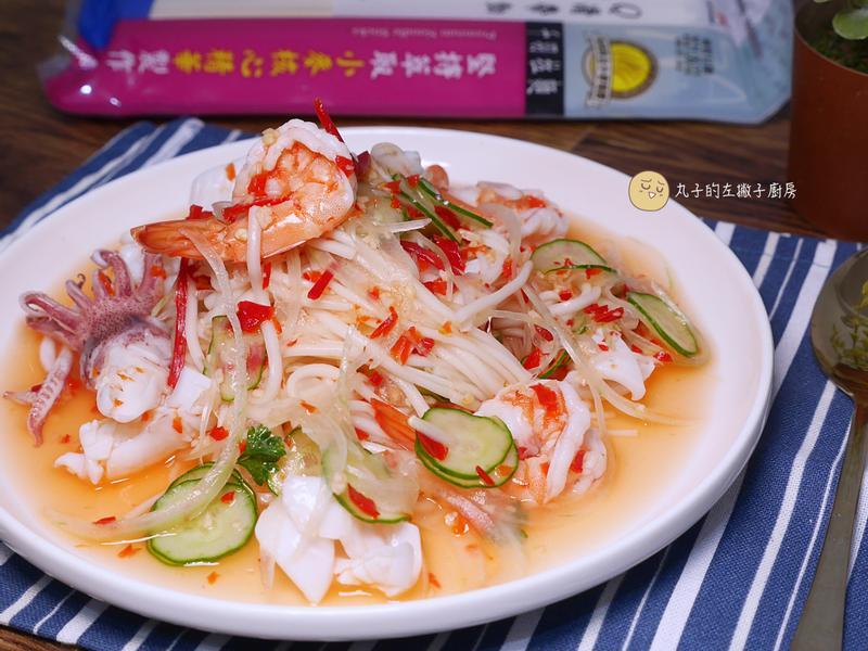 泰式海鮮涼拌冷麵(統一好勁道千羽麵條)