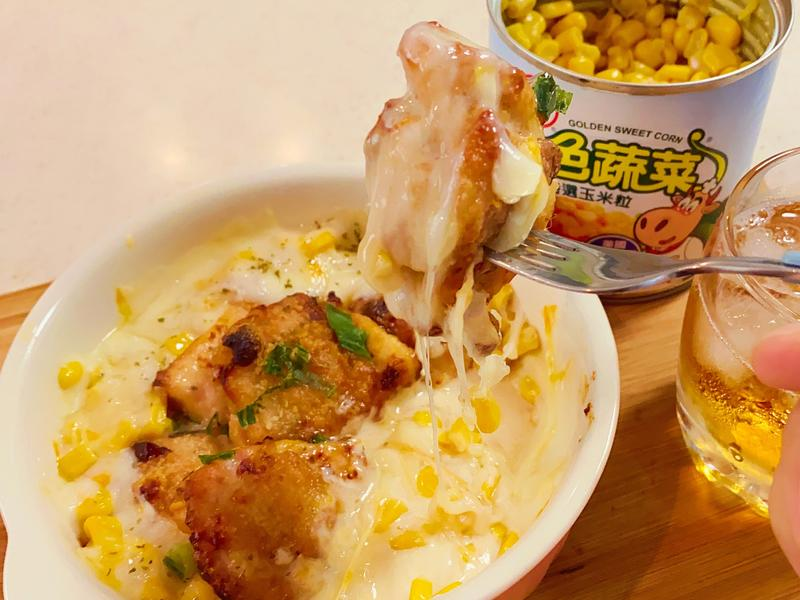 韓式玉米起司醬脆皮炸雞【氣炸鍋 玉米粒】