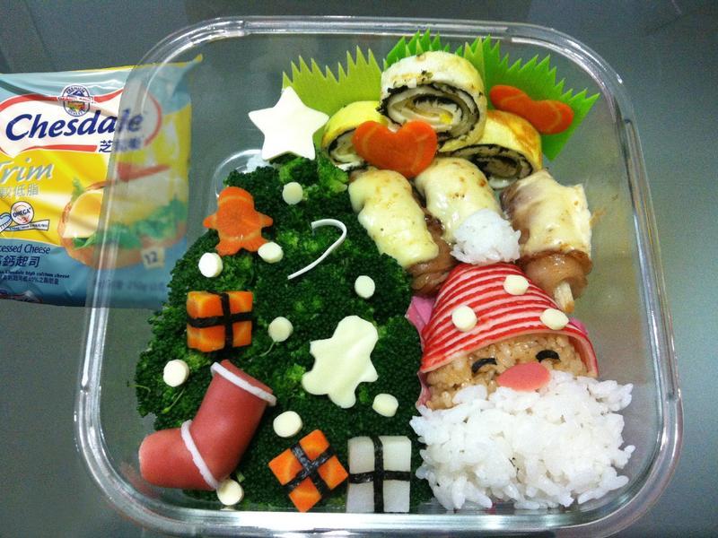 金采耶誕---芝司樂營養高鈣便當