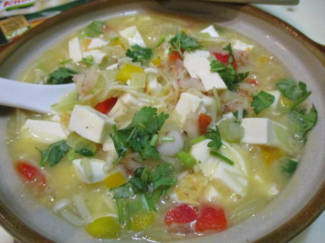 蟹黃南瓜豆腐煲「康寶 奶油風味濃湯」