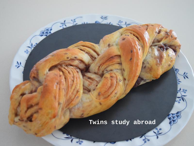 巧克力千層辮子麵包