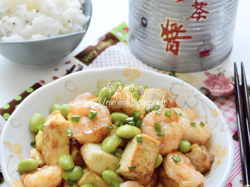 沙茶豆腐煟蝦仁