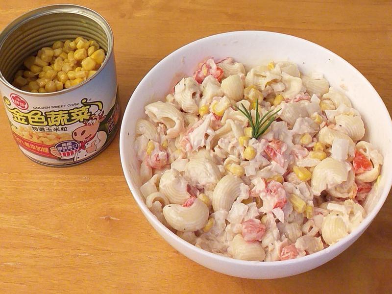 鮪魚玉米義大利麵沙拉