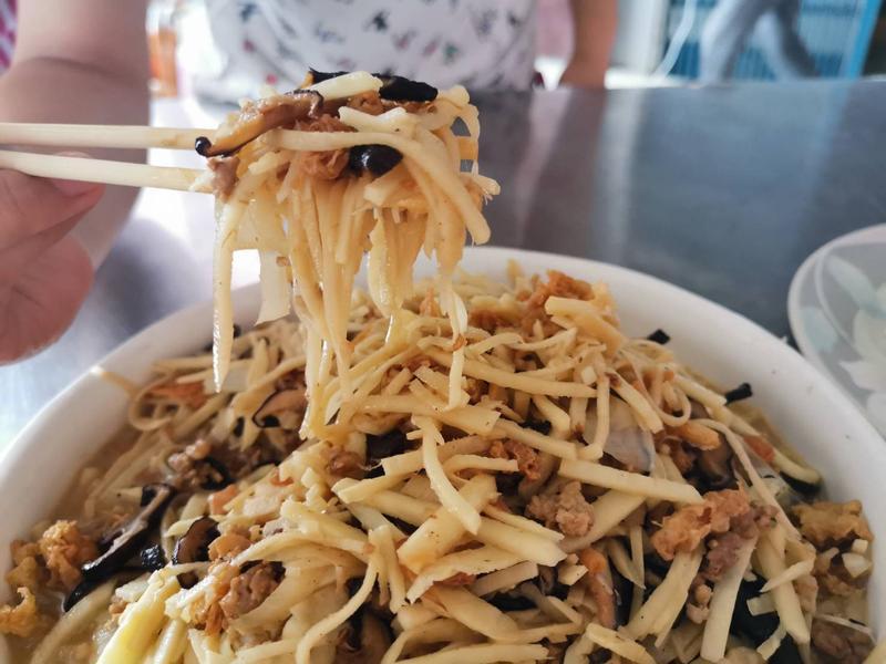 綠竹筍三吃之炒竹筍