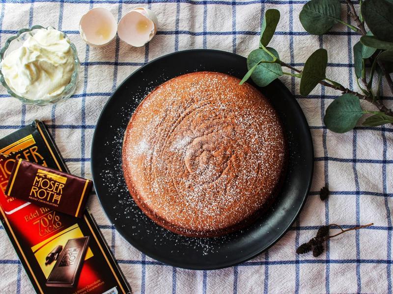 巧克力棉花蛋糕|中筋麵粉版