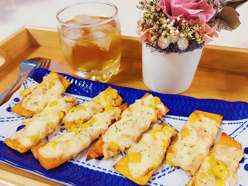 南瓜皮一口披薩【氣炸鍋料理】