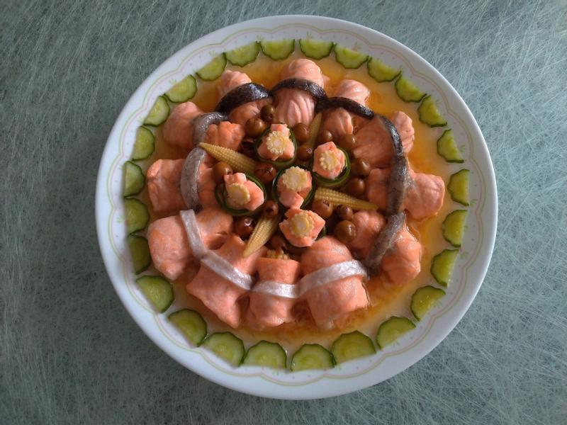 玉米筍鮭魚捲