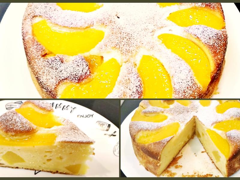 蜜桃Ricotta蛋糕