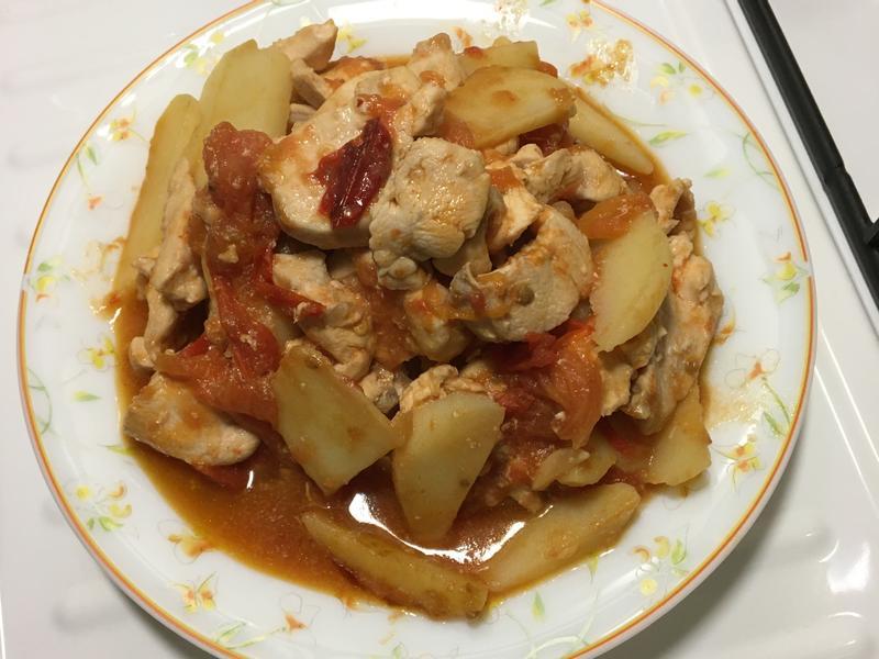 蕃茄馬鈴薯炒雞胸