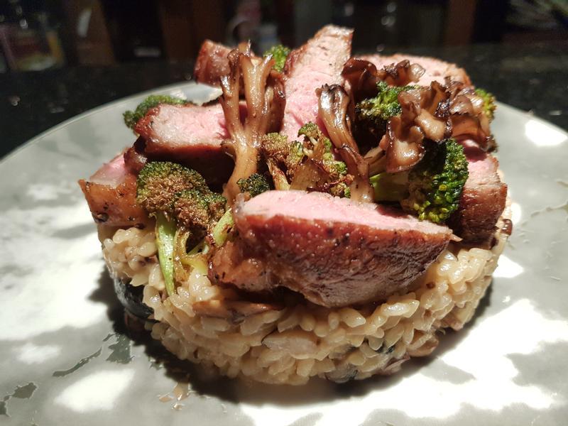 菇菇燉飯與紐約客牛排