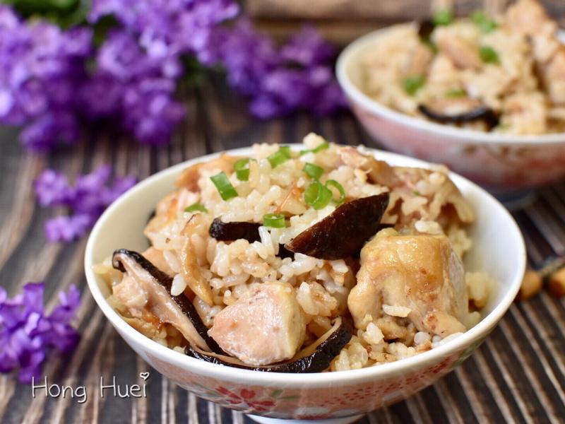 美味的香菇雞肉炊飯