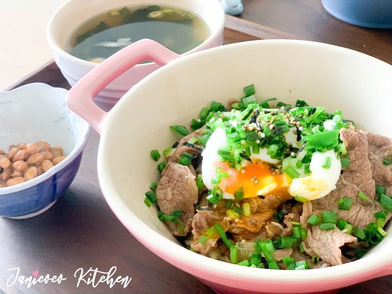 日式料理🍳15分鐘🍱溫泉蛋牛肉飯