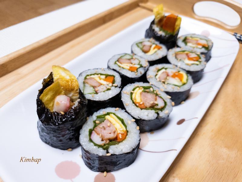 超簡單的韓國海苔飯捲
