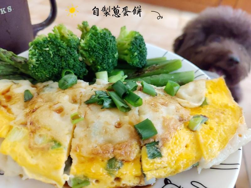 【平底鍋早餐】中筋粉漿起司蔥蛋餅