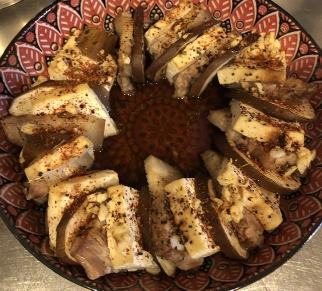 香烤紫茄豆腐豬五花