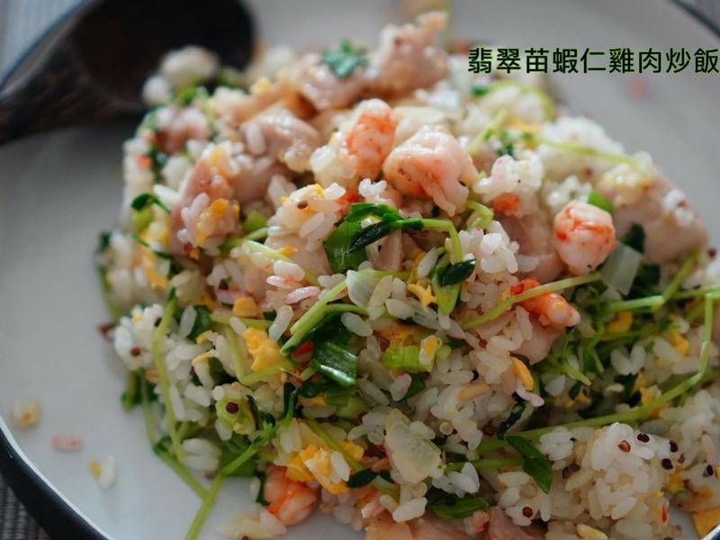 翡翠苗蝦仁雞肉炒飯(影片篇)