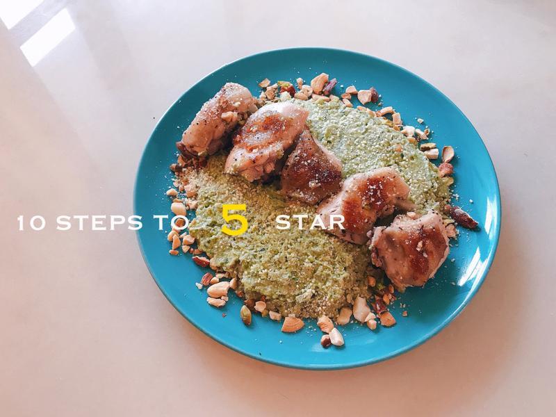 酪梨青醬桂丁雞花椰菜米 減醣低GI