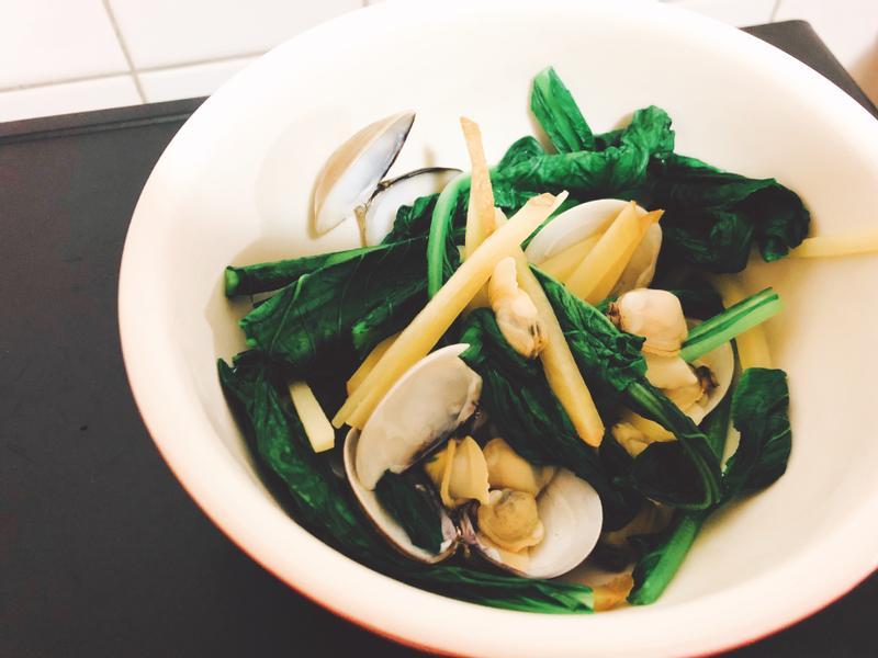 5 分鐘上菜!蛤蜊薑絲炒小松菜