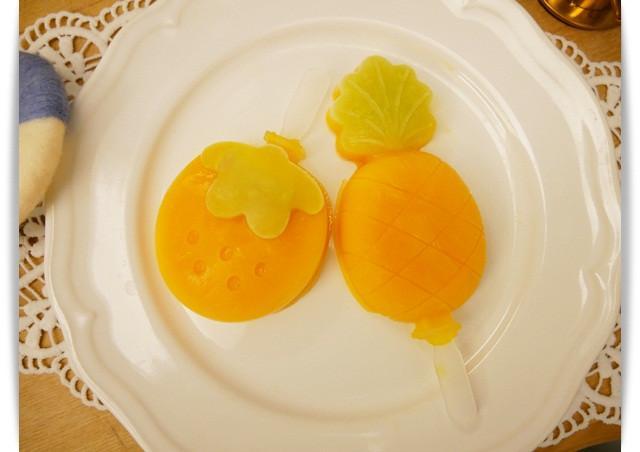 零技巧「芒果冰棒」滿滿的天然新鮮風味。
