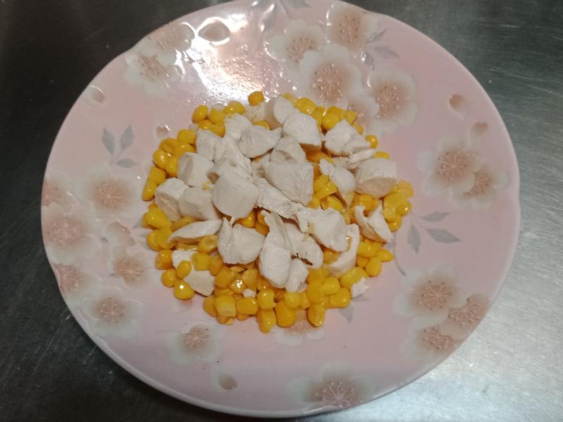 玉米炒雞肉