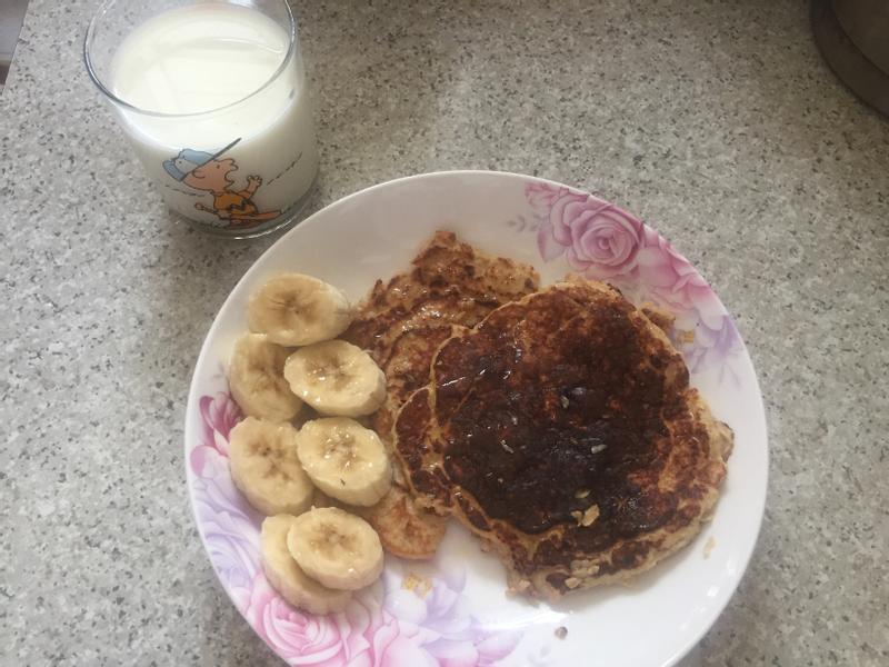 低卡健康燕麥香蕉Pancake