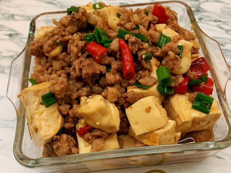 麻婆豆腐~小磨坊料理包版