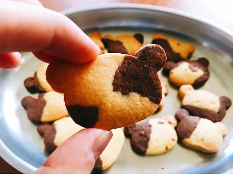 長頸鹿熊熊巧克力香草餅乾🦒🐻🌿🍪