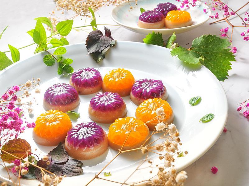 米漿紫地瓜南瓜蒟篛晶凍