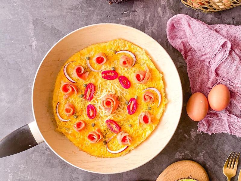 雞蛋料理 <披薩> 燻鮭魚蒔蘿蛋披薩