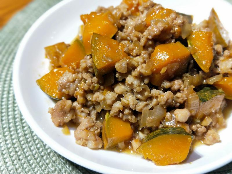 南瓜燒肉末(便當菜)