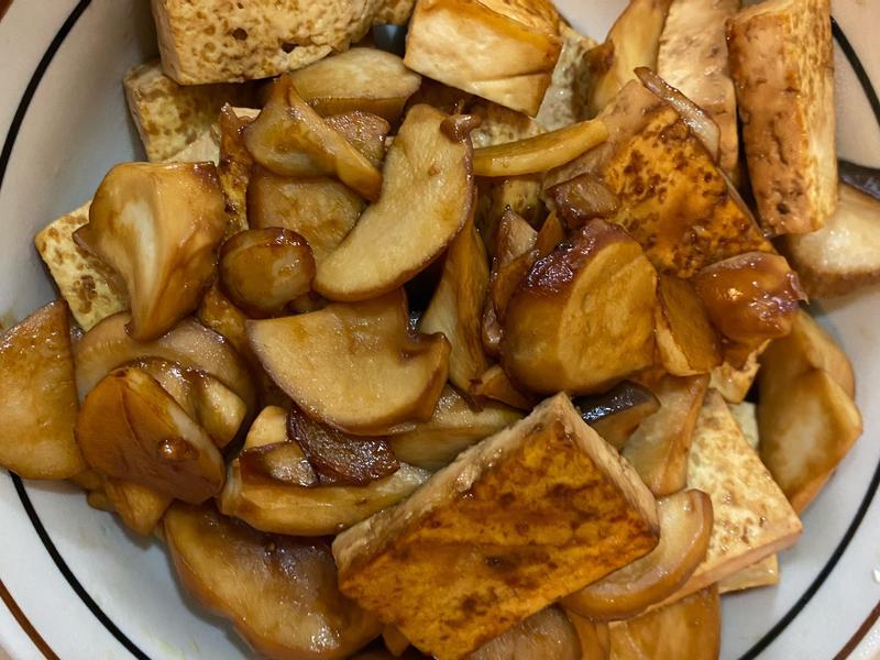 醬燒豆腐杏鮑菇