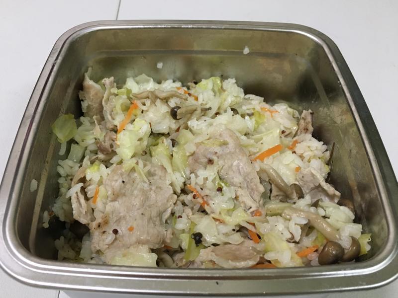 豬肉菇菇炊飯