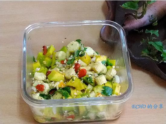 簡易料理-涼拌酪梨甜柚沙拉