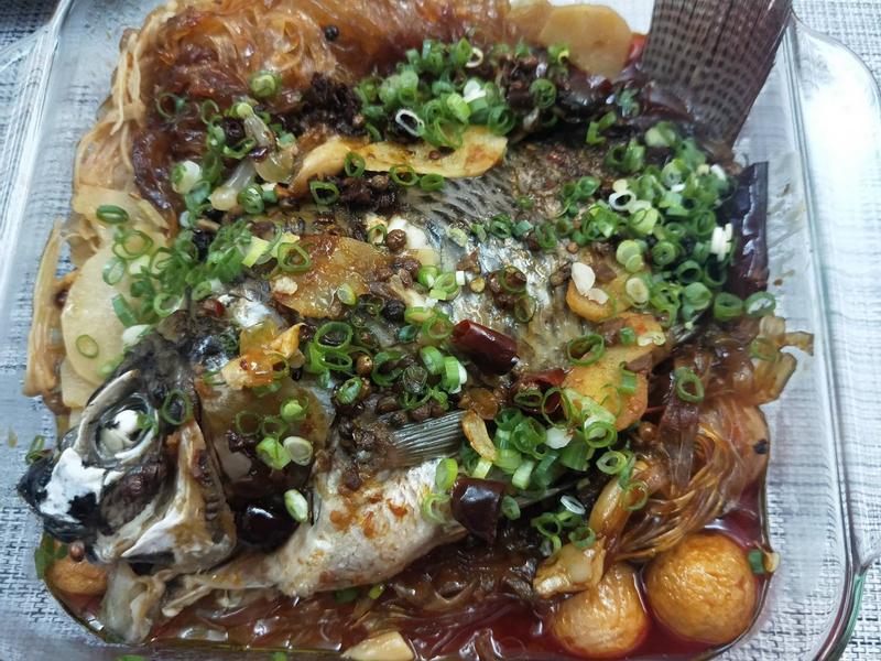 家常料理-飛利浦萬用鍋-水煮魚(吳郭魚)