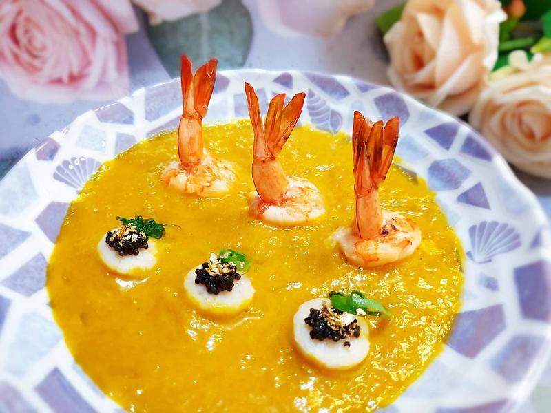 黃金魚子鮮蝦貝(五色防疫餐)