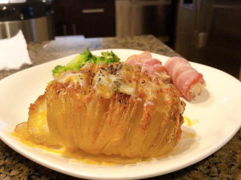 家用小烤箱做風琴馬鈴薯