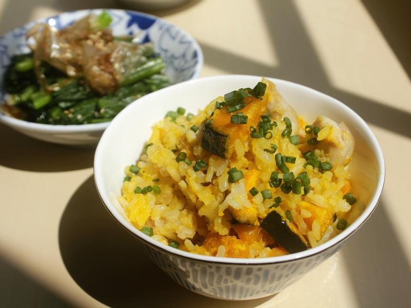 影片◆奶油南瓜雞肉燕麥炊飯|簡單電鍋料理