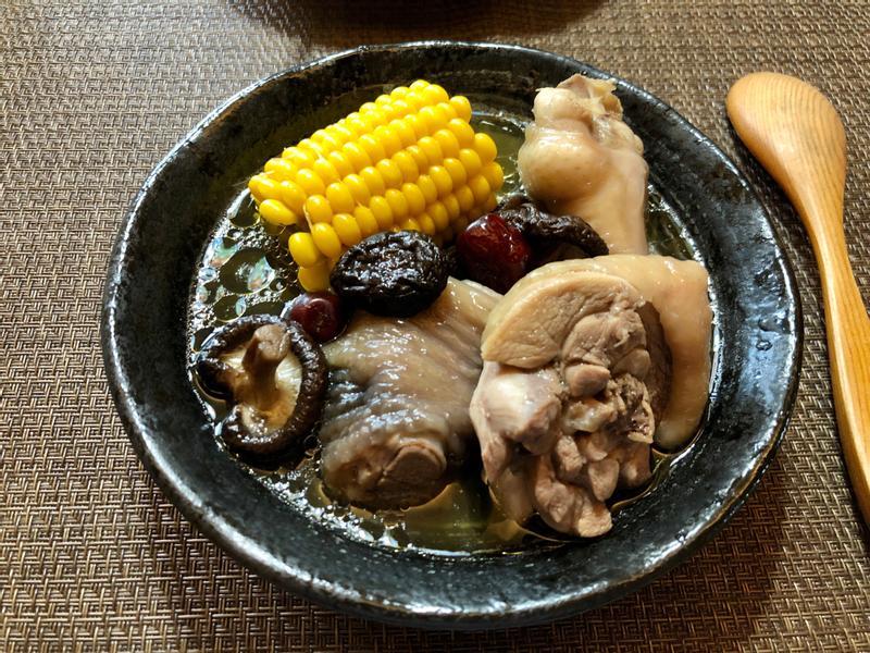香菇玉米雞湯